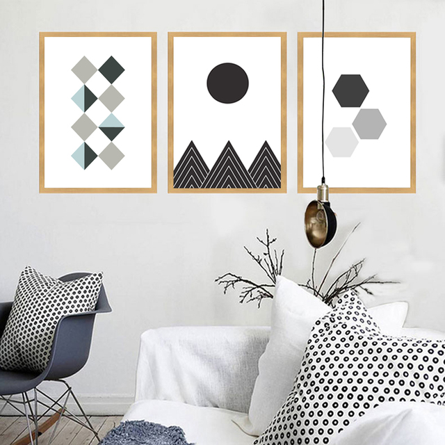 Cuadros Decoracion Geometric Figure Posters And Prints Wall Pictures - Cuadros-decoracion