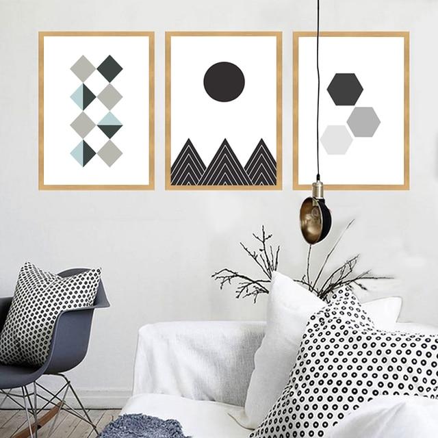 Cuadros decoracion figura geomtrica carteles e impresiones imgenes