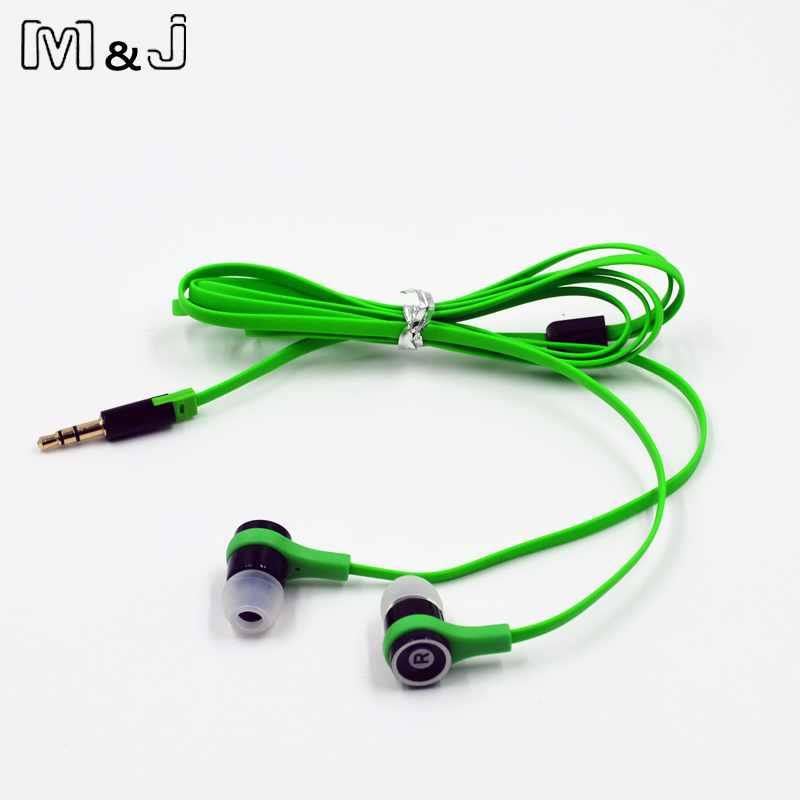 M & J JM21 100% Original Stereo øretelefon Farvefuld Brand Headset Ørepropper Earpod til Gaming Player Mobiltelefon PC