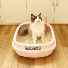 High End Pet Prodect Cat Toilet Litter Box Gatos Large Dog Strong Sturdy Semi Closed Sand Litter Scoop Pets Supplies DDX202