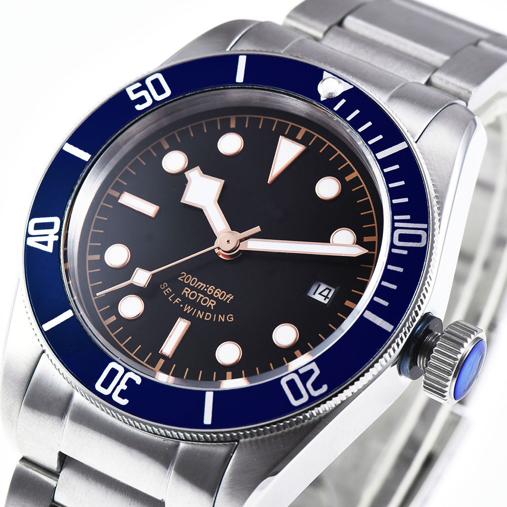 Men Watch Waterproof Automatic Mechanical Clock sapphire crystal date luxury top brand sterile dial dress Wristwatches-in Mechanical Watches from Watches    1