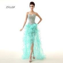 ZYLLGF Ruffled Organza Evening Long Gowns Sweetheart Floor Length Top Lace Evening Formal Women Dress With Beadings ZL75