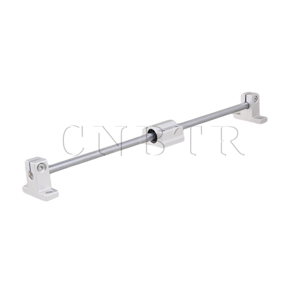7PCS CNBTR Horizontal L300mm 8mm Linear Axis Slide Block Bearing & Guide Support cnbtr 8mm lead screw 40cm linear rail bearing block slide bushing horizontal set