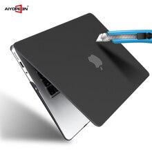Чехол для MacBook Air 13 11 pro retina 12 15, жесткий матовый прозрачный чехол с сенсорной панелью