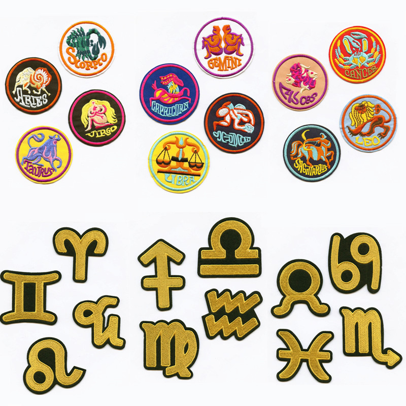 Aliexpress Com Buy 12 Zodiac Signs Constellation: Aliexpress.com : Buy 12 Zodiac Signs Symbols Patterns Two