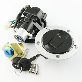 Fuel Tank Cover Cap Lock With Ignition Switch Lock FOR Suzuki GSF650 Bandit 650 GSF1200 Bandit 1200 GSF1250 Bandit 1250 фото