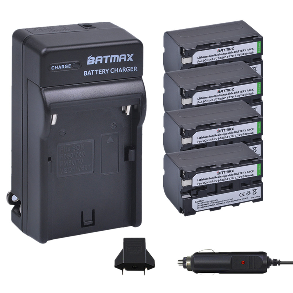 4pc NP-F750 NP-F770 NP F770 np f750 Battery+Car Charger+EU Plug for Sony NP F970 F960 ccd-tr917 ccd-tr940 ccd-trv101 ccd-trv215 replacement np f550 battery charger for sony ccd rv100 ccd rv200 ccd sc series black
