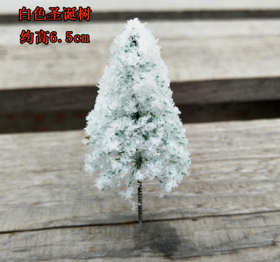 50pcs Miniature Plastic White Ice Christmas Xmas Trees For Home Decor Bonsai Craft Garden Ornament Decoration Plant Design 14 In Figurines Miniatures From
