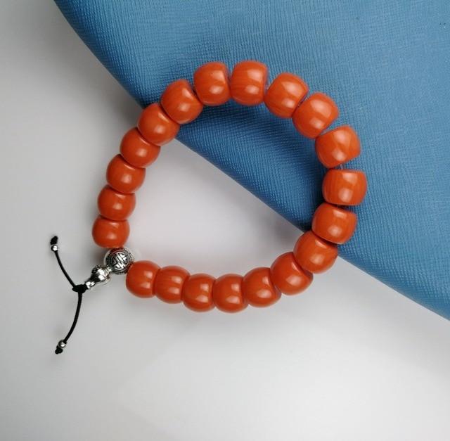 Апельсиновые красные бусины в форме барабана thomas имитирующие