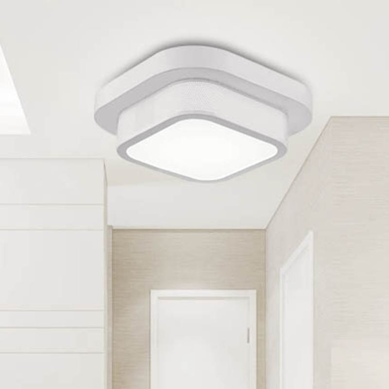 Moderne simple rectangulaire plafonnier salle à manger chambre LED plafonnier balcon couloir paquet installation ZH FG142