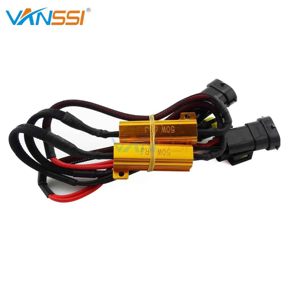 2pcs h8 h11 h16 hb4 9006 led load resistor wiring harness adapter for car led fog headlight bulb canbus error canceller decoder [ 1000 x 1000 Pixel ]