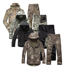 Coat Jacket Softshell Lurker Hunting Military Tactical Waterproof Camo-Suit Hoodie Pants