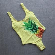Купить с кэшбэком Pineapple 1 One Piece Swimsuit Push Up Monokini Plus Size Swimwear Women 2019 Female Swimsuit Bathing Suit Women Sexy Badpak
