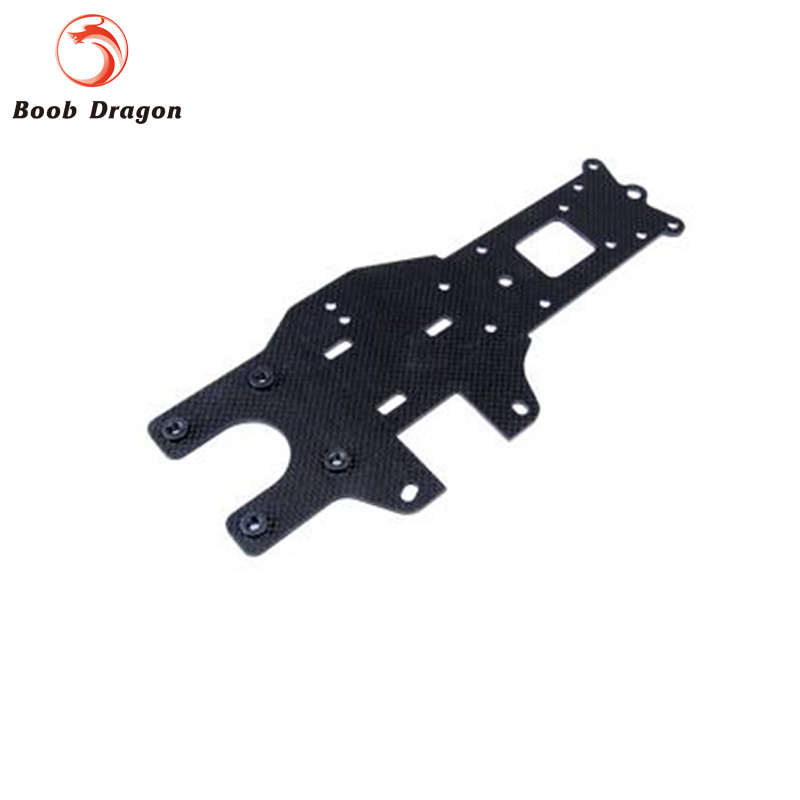 Carbon Fiber Baja Rear Chassis Plate for HPI Baja 5b ss 5t 5sc Rovan King Motor billet rear hub carriers for losi 5ive t