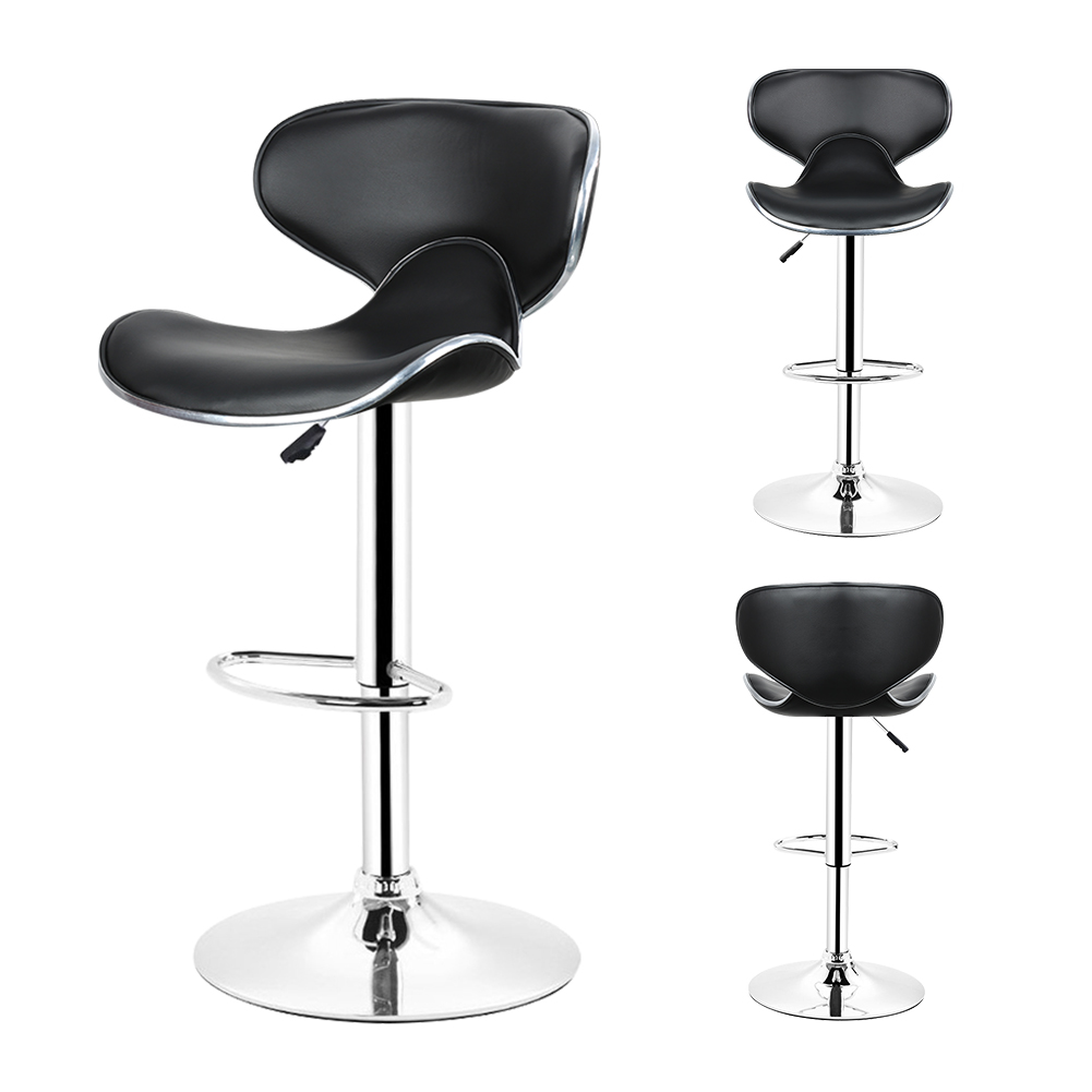 DOORSACCERY 2pcs set Leather Bar Stool Gas Lift Height Adjusted Swivel Leisure Office Chair free shipping