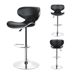 DOORSACCERY 2pcs/set Leather Bar Stool Gas Lift Height Adjusted Swivel Leisure Office Chair free shipping HWC