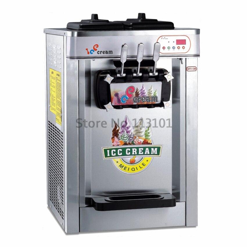 Stainless steel body rainbow soft ice cream machine