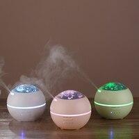 150ml Mini Aroma Diffuser With 3 PVC Films LED Night Light Ultrasonic Cool Mist Humidifier Air