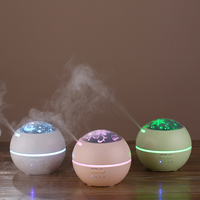 150ml Mini Aroma Diffuser With 3 PVC Films LED Night Light Ultrasonic Cool Mist Humidifier Air