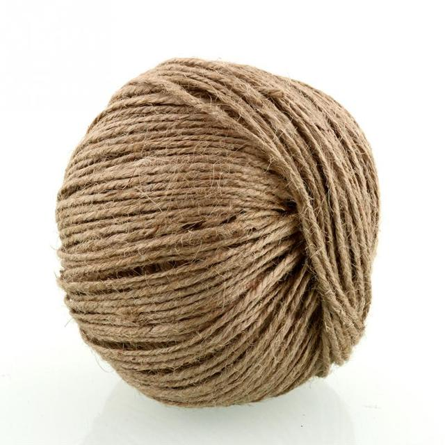 nueva cuerda de yute natural 2mm suave 100 m yute natural caja de regalo cuerda de - Cuerda De Yute
