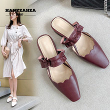 Solid Color Womens Summer Shoes Soft Fashionable Flat Slippers Fashion Casual