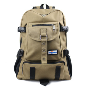 Image 2 - Chuwanglin Fashion leisure mens backpack designer travel bag strap zipper solid color casual canvas backpack school bag ZDD5194