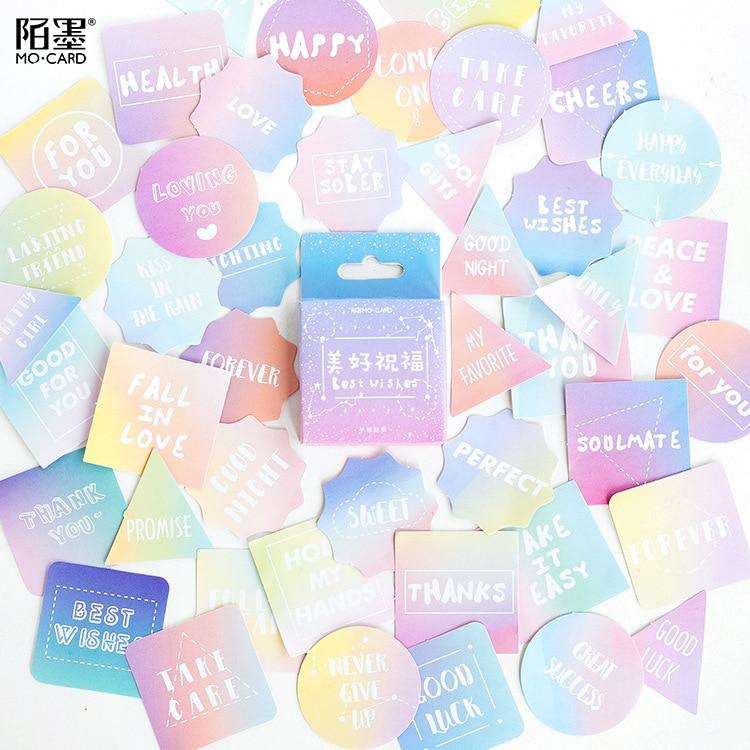 Best Wishes Decoration Adhesive Stickers Diy Cartoon Stickers Diary Sticker Scrapbook Kawaii Stationery Stickers