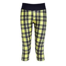 Sports Cropped Fitness Women Yoga Trousers Gym Capri Pants Workout Legging Roupa Esportiva Arfar Ginastica Yellow