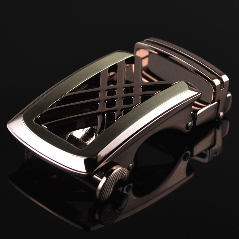 Men's Business Alloy Automatic Buckle Unique Men Plaque Belt Buckles For 3.5cm Ratchet Designer Belts Luxury Belt LY11626