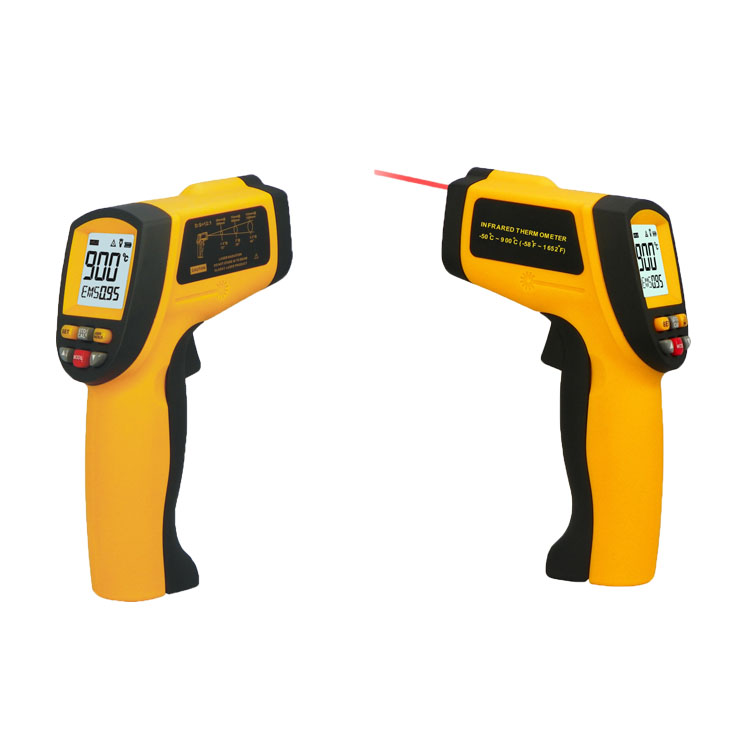 Free Shipping Non Contact Digital Infrared Thermometer -50 to 900 Degree Temperature Monitor Gun IR Thermometer GM900