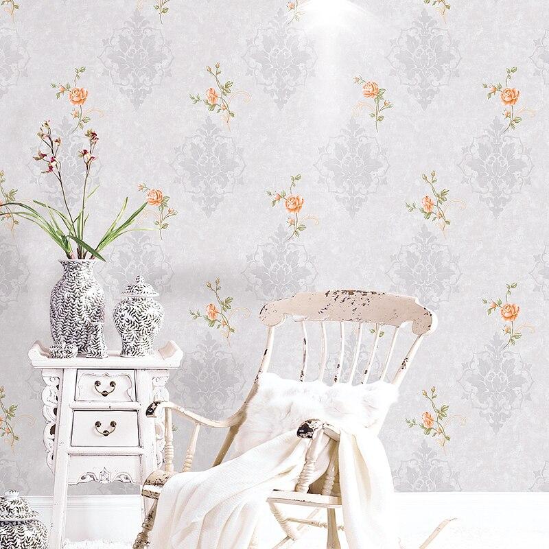 Chaude pastorale petit papier peint Floral américain salon chambre 3D imperméable lavable PVC écologique papier peint mural