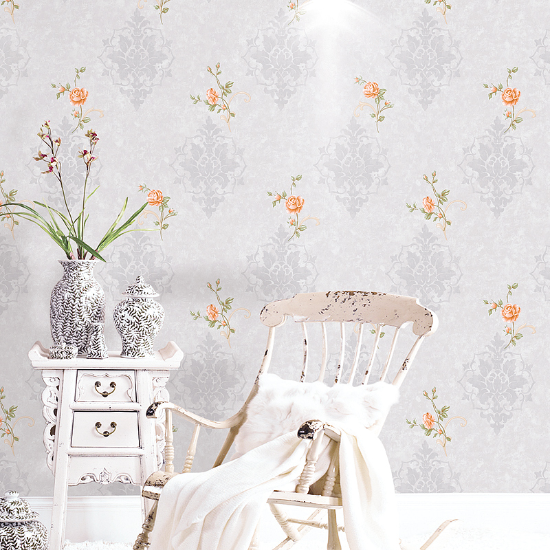 Warm Pastoral Small Floral Wallpaper American Living Room Bedroom 3D Waterproof Washable PVC Environmentally Friendly Wall Pape in Wallpapers from Home Improvement