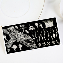 1Pcs With Backplane Nail Stencil For Art Templates~Flying Wild Goose Fly~Nail Stamping Plates Stamps DIY Manicure Stamp