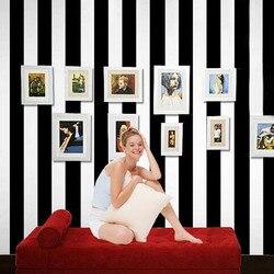 ورق حائط ثلاثي الأبعاد حديث أبيض وأسود مخطط ورق حائط لغرفة المعيشة غرفة نوم تلفزيون حائط الخلفية خطوط عمودية ديكور المنزل