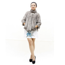 Women Genuine Fur Coat Thick Warm Standard Collar Natural Mink Fur Coat For Female Fashion Elegant Outerwear Coats Customizable