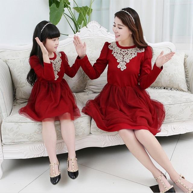 169939c6b96 2015 hot new fall family clothing mother-daughter-dresses matching family  clothes mom and daughter set dress dress