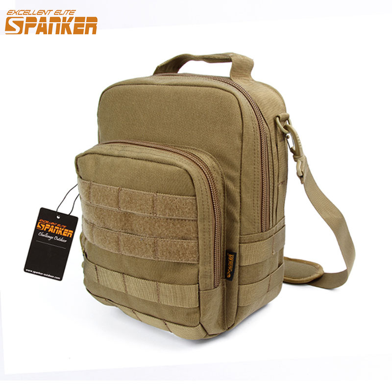 EXCELLENT ELITE SPANKER Tactical Shoulder Bags Molle Nylon Pouch Outdoor Military Hunting Camping EDC Waterproof Shoulder Bag airsoft tactical bag 600d nylon edc bag military molle small utility pouch waterproof magazine outdoor hunting bags waist bag