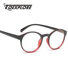 26972158161 TOEXPLORE Fashion Men Women Eyewear Frame Classic Round Vintage Retro Shade Optical  Frame Brand Designer Clear Lens high quality