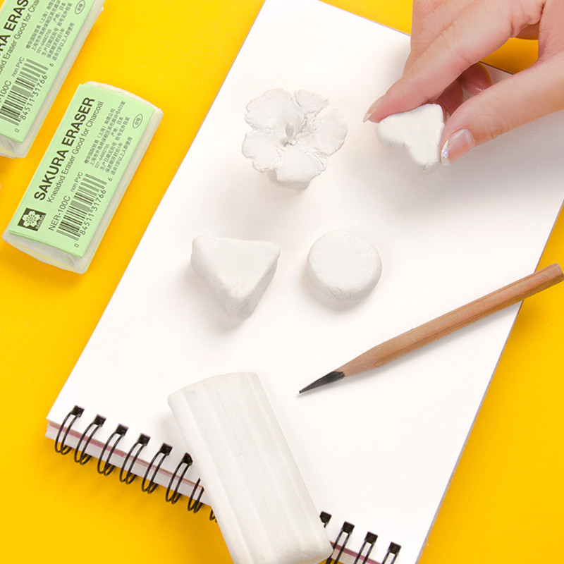 Japanese Sakura Plasticity Rubber Eraser Professional Drawing Sketch Highlight Kneaded Eraser For Charcoal Pencil Art Supplies