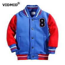 VIDMID 2-7Y garçons veste pour bébé garçon enfants vêtements filles veste baseball survêtement pour les garçons vêtements de sport à capuche coton