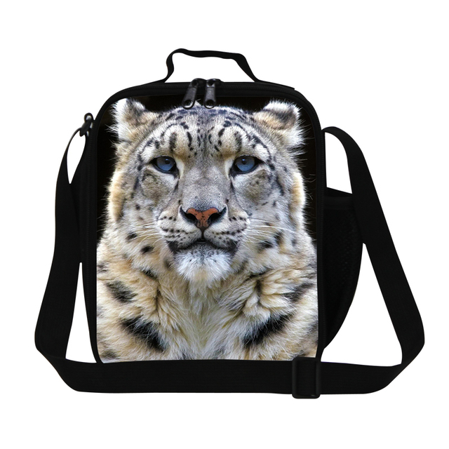 Animal tiger lunch bags for kids cute  lunch cooler for boys school Insulated messenger Lunch box bag girl adult lunch container