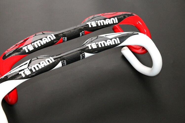 TEMANI vélo corne de boeuf guidon 31.8mm vélo de course en fibre de carbone poignée Bar vélo de route barre pliée guidon 400/420/440mm