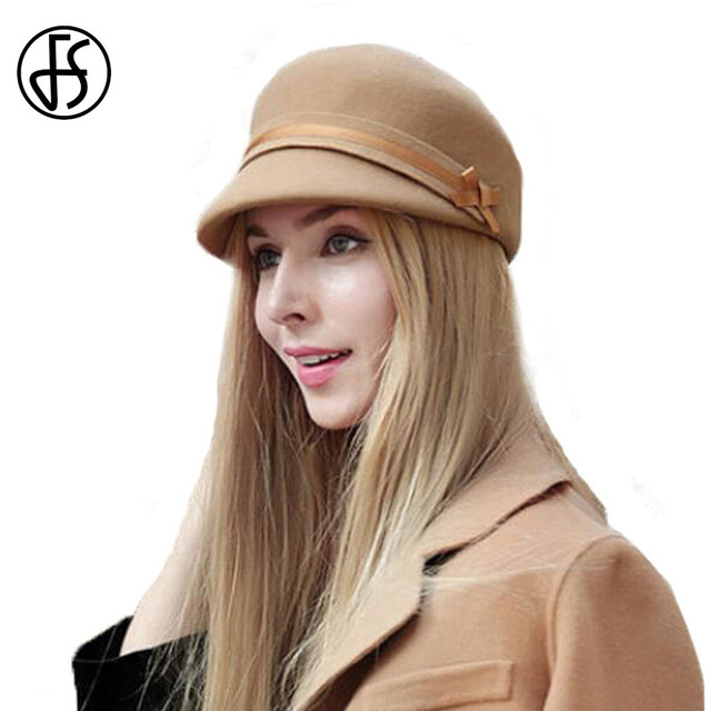 FS Vintage Wool Fedora Hat For Womens Elegant Floppy Brim Ladies Cloche  Hats Winter Knight Fedoras ce62a3862ac
