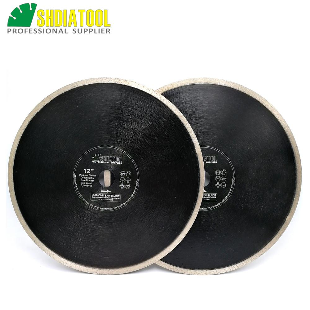 SHDIATOOL 2pcs Dia12inch 300mm Hot pressed Continue rim Porcelain Tile Ceramic Saw Blades diamond cutting Disc Diamond WheelSHDIATOOL 2pcs Dia12inch 300mm Hot pressed Continue rim Porcelain Tile Ceramic Saw Blades diamond cutting Disc Diamond Wheel