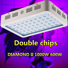 LED Grow Lights 600W 1000W Full Spectrum Double chip Plant Lamps Best For Growing and Flowering Hydroponics For Quick shipping