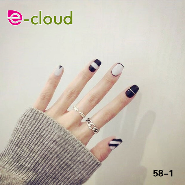 6 Colors Options Fake Nails Press On Manicure Gel Polish False Tips ...