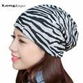 LongKeeper 2016 Hot Turban Hat Cap Hijab Hairband Winter Hat for Women Men Bandana Wrap Hair Fancy Indian Cap Lepard Zebra Style
