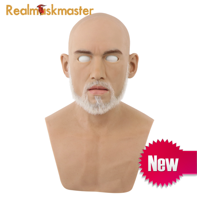 Realmaskmaster realistic artificial silicone halloween adult man mask Male latex full face party masks Cosplay Fetish