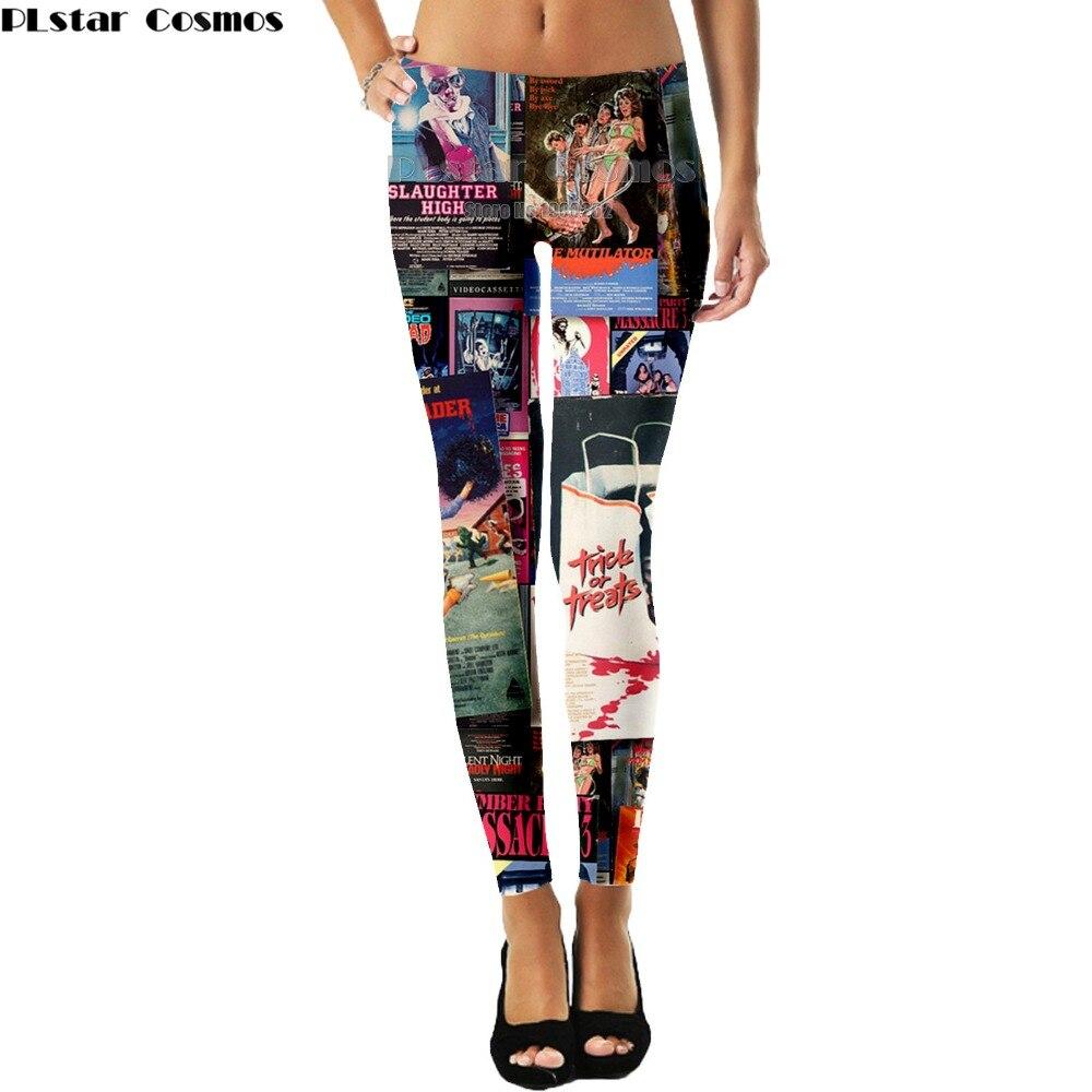 PLstar Cosmos Newspaper magazine cover Movie Harajuku style Leggings Popular Brand 3D Full Print Women New Style drop shipping
