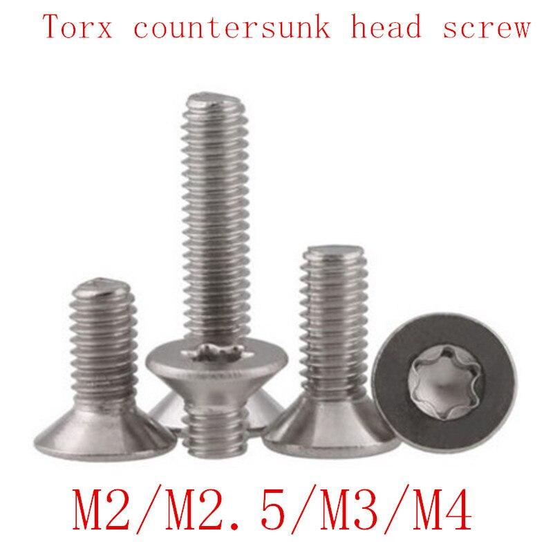 M3 M4 M5 M6 Flat Head Torx Countersunk Screws Self tapping thread Cut 100pcs